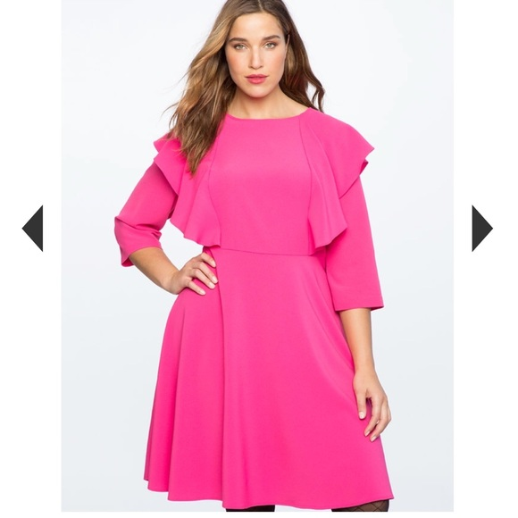 b6e5a2a5c2b NWT Eloquii Pink Tie Back Plus Size Dress (20)
